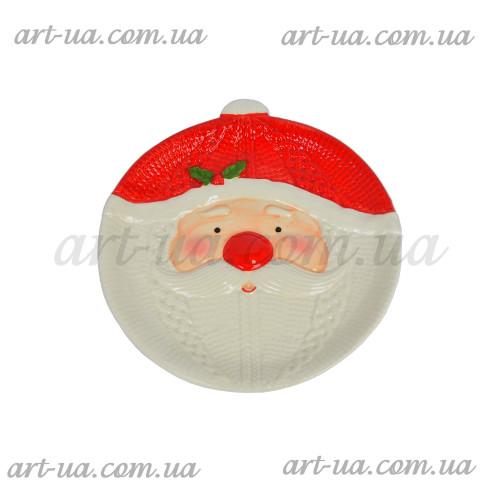 """Тарелка новогодняя """"Санта"""" 19см NG072"""