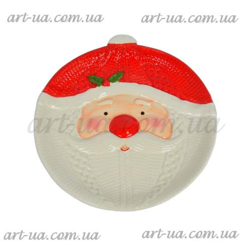 """Тарелка новогодняя """"Санта"""" 22см NG073"""