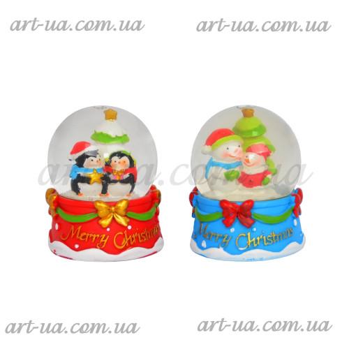 """Новогодний снежный шар """"Merry Christmas"""" NG463"""
