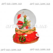 """Музыкальный снежный шар """"Санта"""" NG719"""