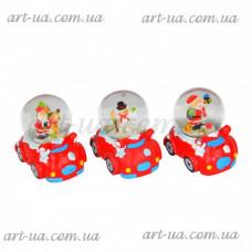 """Новогодний снежный шар """"Машина"""" NG915"""