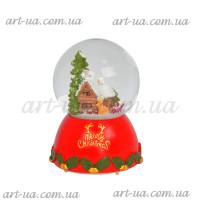"""Музыкальный снежный шар """"Домик в лесу"""" 13см NG924"""