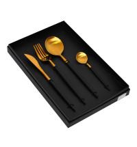 Набор столовых приборов (ФРАЖЕ) черный матовый  VL002