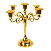 """Подсвечник канделябр на 5 свечей """"Gold"""" M6405"""