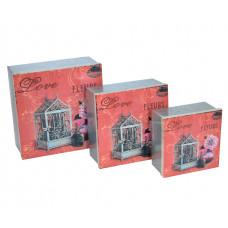*Коробка  из 3 шт. металл FF0207