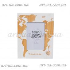 """Фоторамка настольная """" World map"""" PR713"""