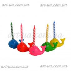"""Свеча для торта """"Киты""""  G12"""
