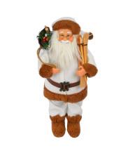 Дед Мороз с лыжами 50 см NG8501