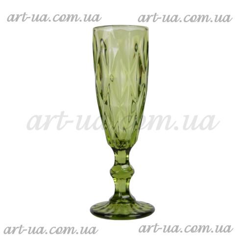 """Бокал под шампанское """"Rhombus"""" зеленый VB622"""