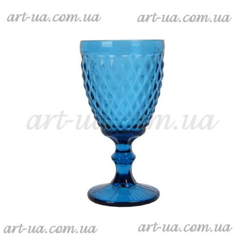 """Бокал стекло """"Rhombus small""""  синий VB711"""