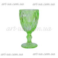 """Бокал стекло """"Rhombus"""" зеленый VB718"""