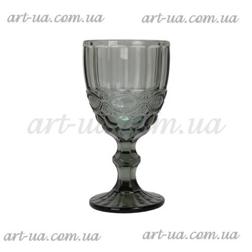 """Бокал стекло """"Ornament"""" черный VB723"""