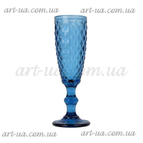 """Бокал под шампанское """"Elegant"""" синий VB790"""