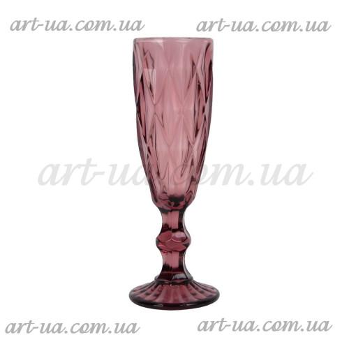 """Бокал под шампанское """"Rhombus"""" фиолетовый VB831"""