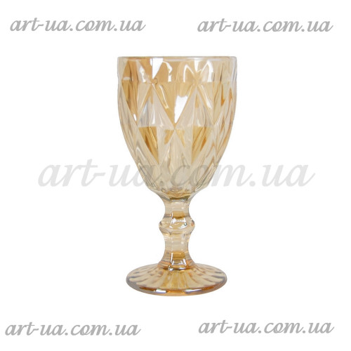 """Бокал стекло """"Rhombus"""" свет. золото VB849"""