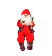 Дед Мороз с мягкими ногами (сидячий) 70 см NG8513