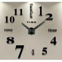 """Часы настенные 3D """"DIY"""" ZH015 МАЛЕНЬКИЕ черные"""