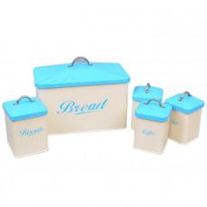 Набор хлебница и баночки для сыпучих CF649