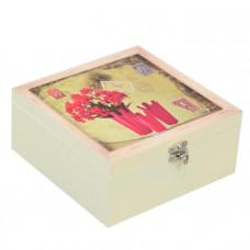 """Шкатулка для чая """"Red Flowers"""" HL132"""