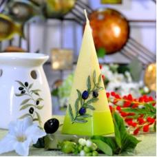 Свеча Olive пирам. 70*240 S215