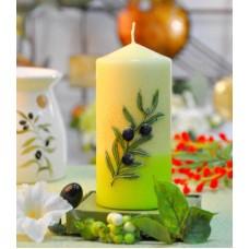 Свеча Olive цилиндр 60*130  S5185