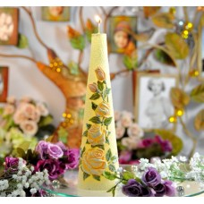 """Свеча """"Садовая роза"""" столбик 70*250мм  SW335"""